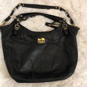 Coach Madison satchel shoulder leather bag